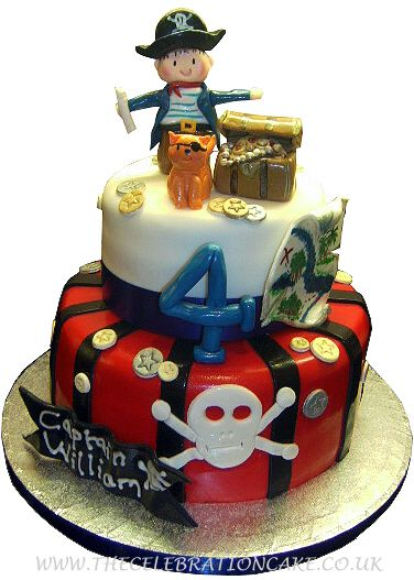 Image Detail For Tier Pirate Birthday Cake