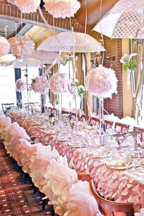 Bridal shower ideas and themes repinned via jennifer bonilla umbrella decorations baby also image may contain one or more people table indoor rh pinterest