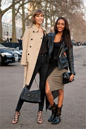 London Fashion News I London Trendsetters I Karlie Kloss & Jourdan Dunn - London Street Style