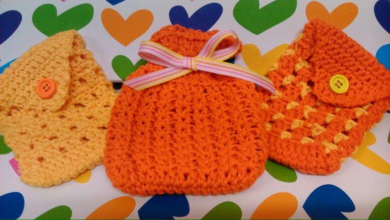 a2eba59a3 Bolsitas de ganchillo-crochet para maquillaje, compresas etc ...