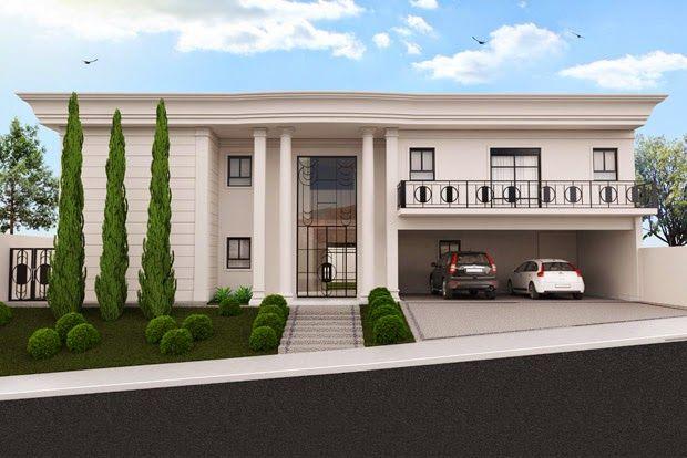 10 fachadas com inspira o neoclassica fachadas pinterest for Casa moderna classica