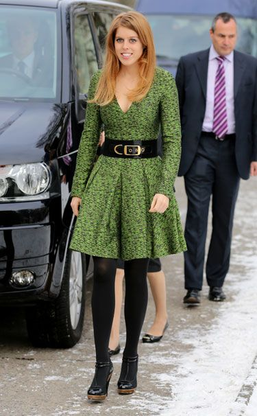 Princess Beatrice of York in Jonathan Saunders