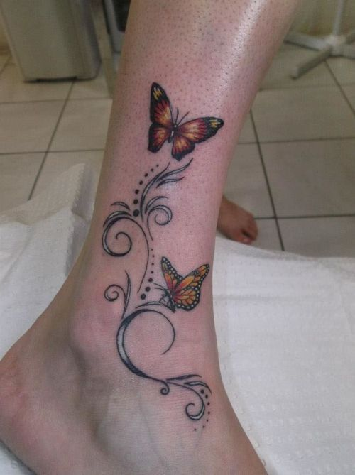 Butterfly Ankle Tattoo Tattoo Picture At Checkoutmyink Com Butterfly Ankle Tattoos Ankle Tattoo Butterfly Tattoo Designs
