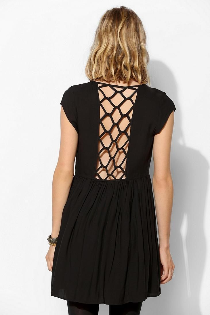Silence + Noise Cage Back Mini Dress