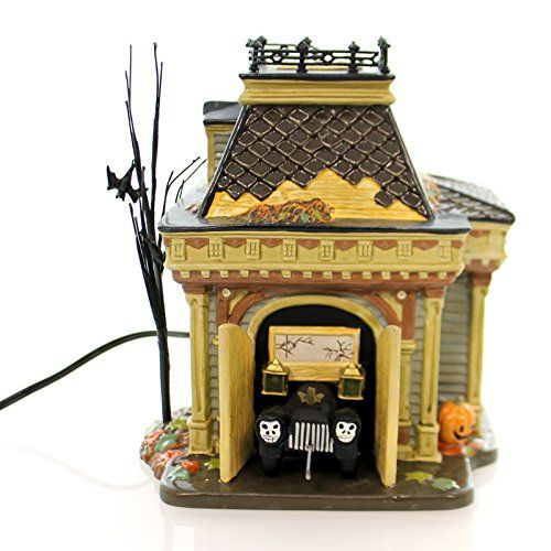 Department 56 Accessory GRIMSLYS GARAGE Ceramic Halloween Snow Village 54706 >>> To view further for this item, visit the image link.