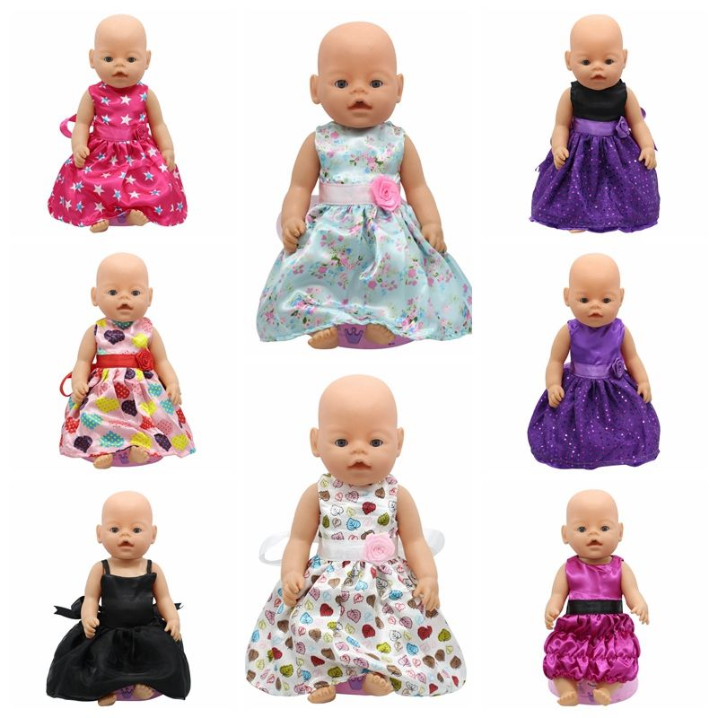 Baby Born Doll Accessories 15 Styles Princess Dress Doll