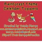 Rainforest Jungle Themed Calendar Month Headers - Mrs. Morga's Minute