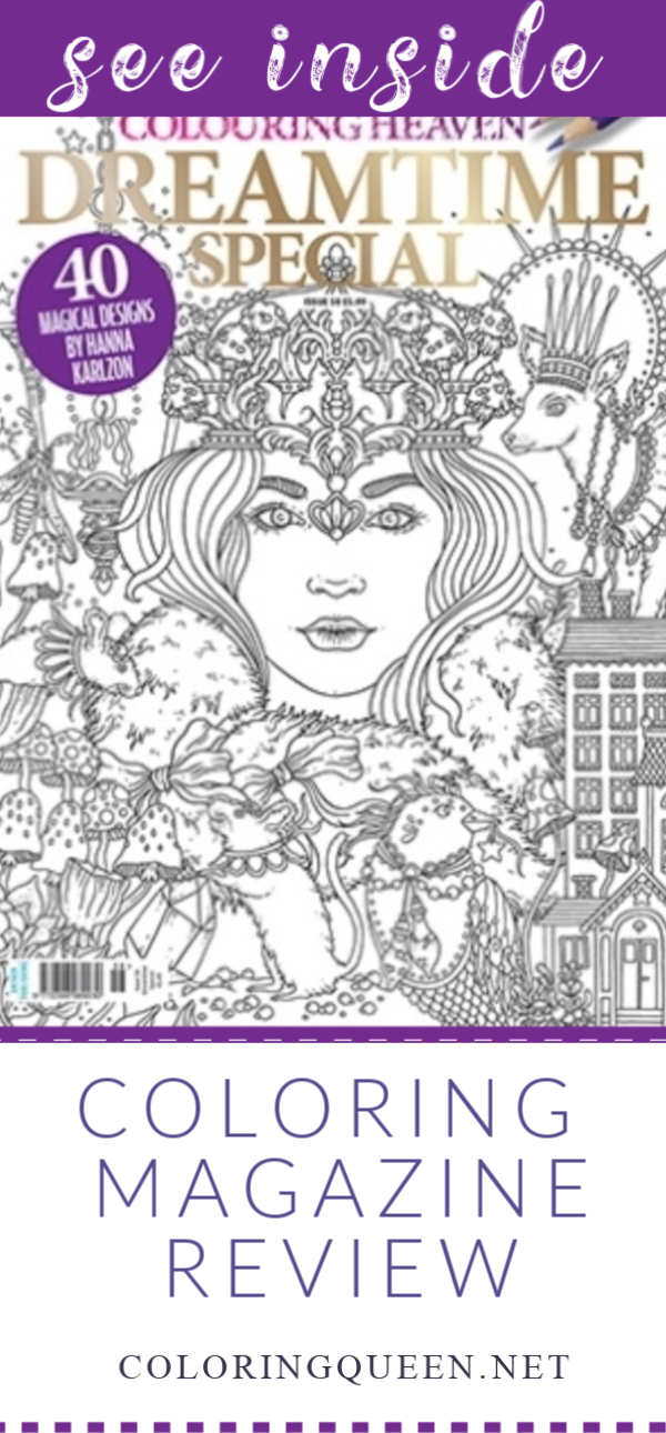 Colouring Heaven Dreamtime Special Coloring Book Review Coloring Queen Colouring Heaven Coloring Books Color