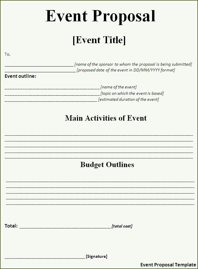 Event Proposal Template Event Planning Proposal Event Proposal Event Proposal Template