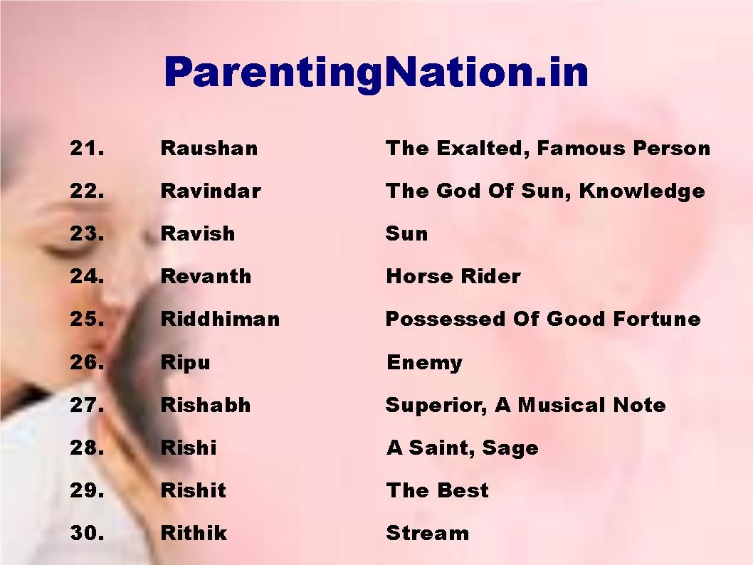 Boy Names: ParentingNation.in Provide You With Largest Resource Of