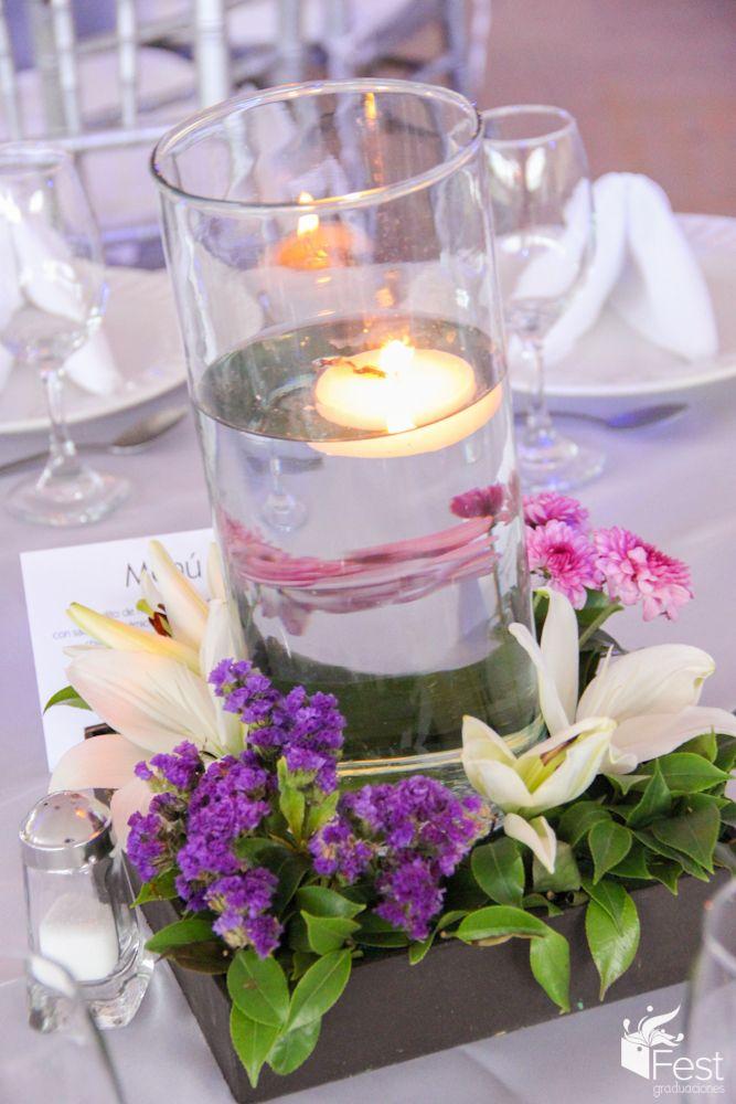 centro de mesa de cilindro con vela centros de mesa wedding y glass. Black Bedroom Furniture Sets. Home Design Ideas