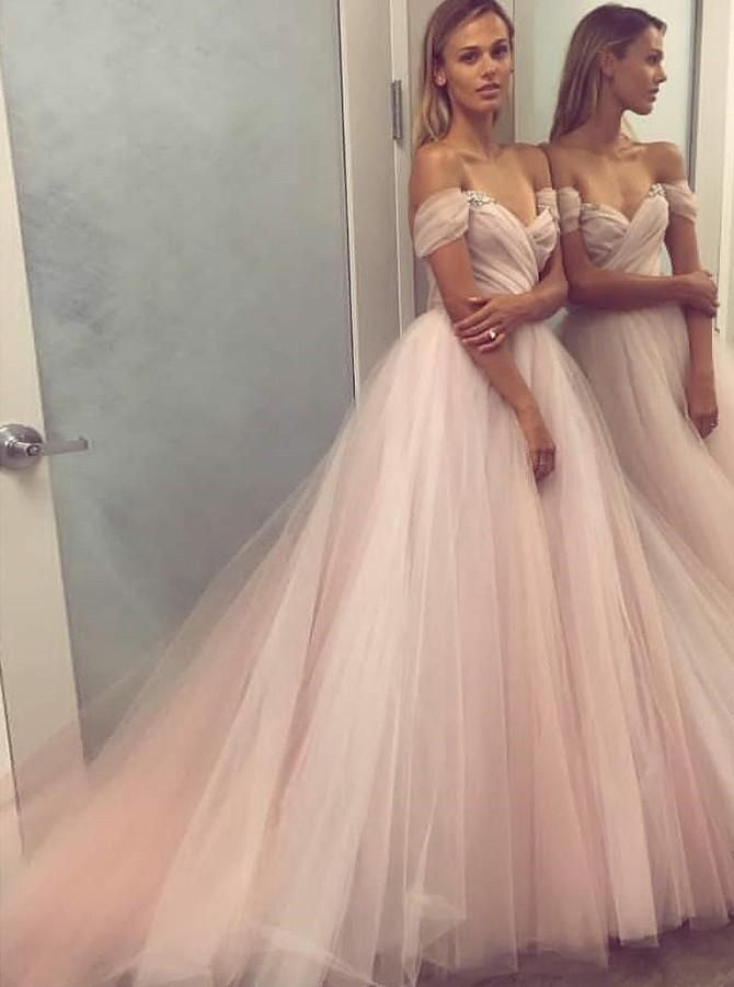 03bde55a3b Off the Shoulder Prom Dresses ball gown