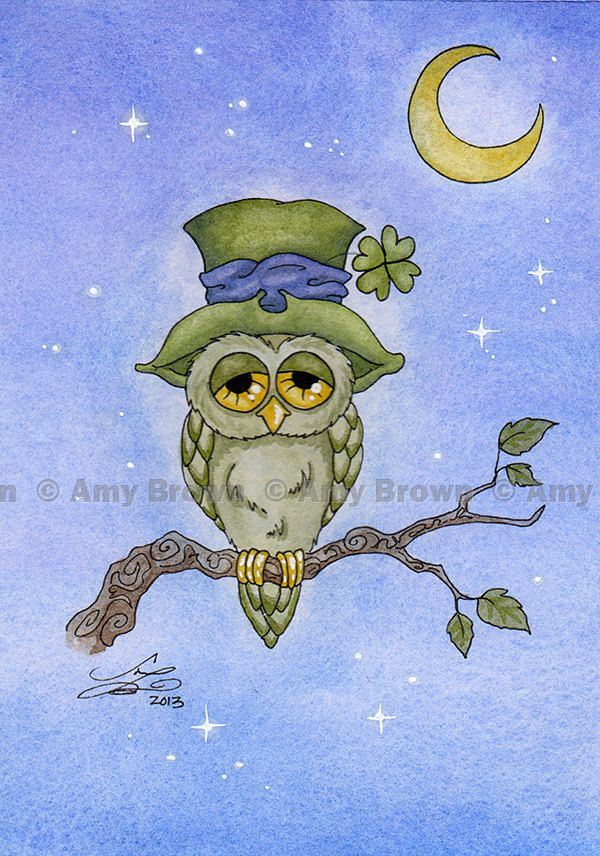 HALF SOLD OUT Luck Owl Limited Edition Print by Amy Brown. via Etsy.
