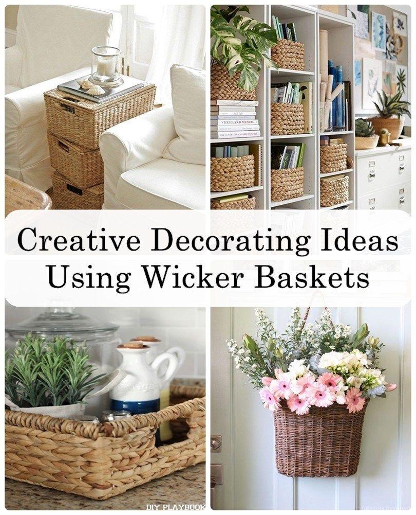 Creative Decorating Ideas Using Wicker Baskets Decoracion De