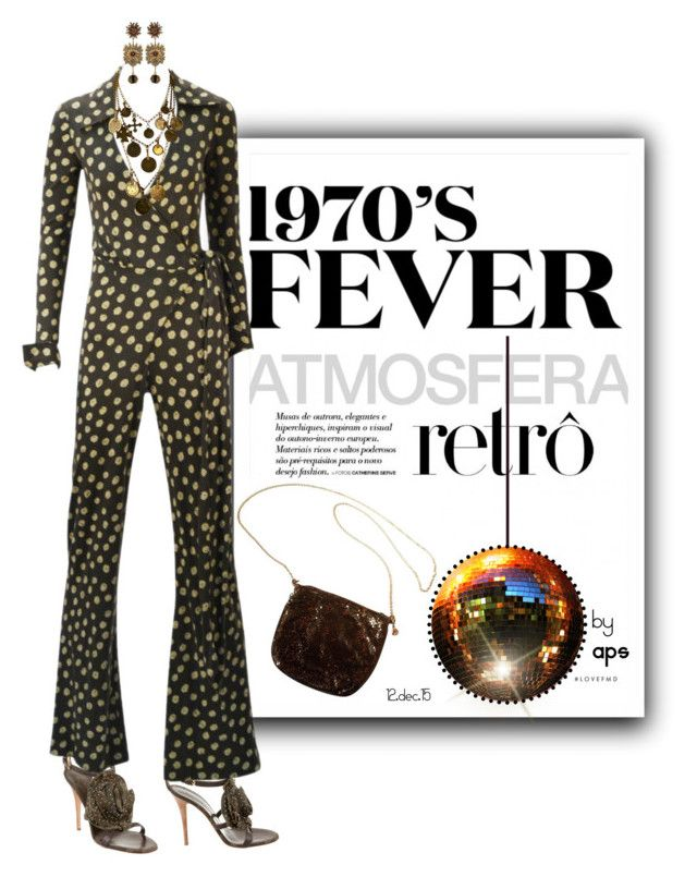 """SET #2095. Retro Fever: 1970's!"" by annasousa-1 ❤ liked on Polyvore featuring Giuseppe Zanotti, Whiting & Davis, Diane Von Furstenberg, Yves Saint Laurent, Dsquared2 and modern"