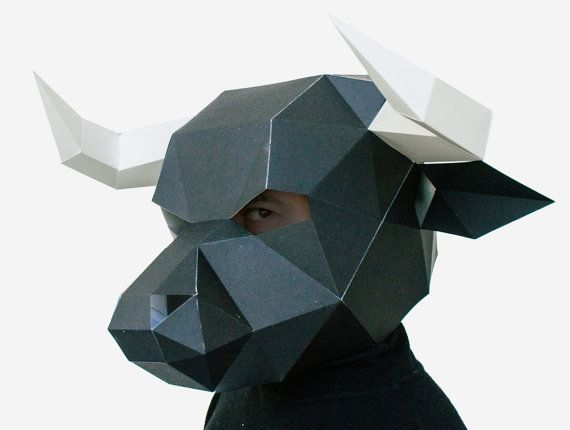 Make Your Own Bull Mask Animal Head Instant Pdf By Awesomepatterns