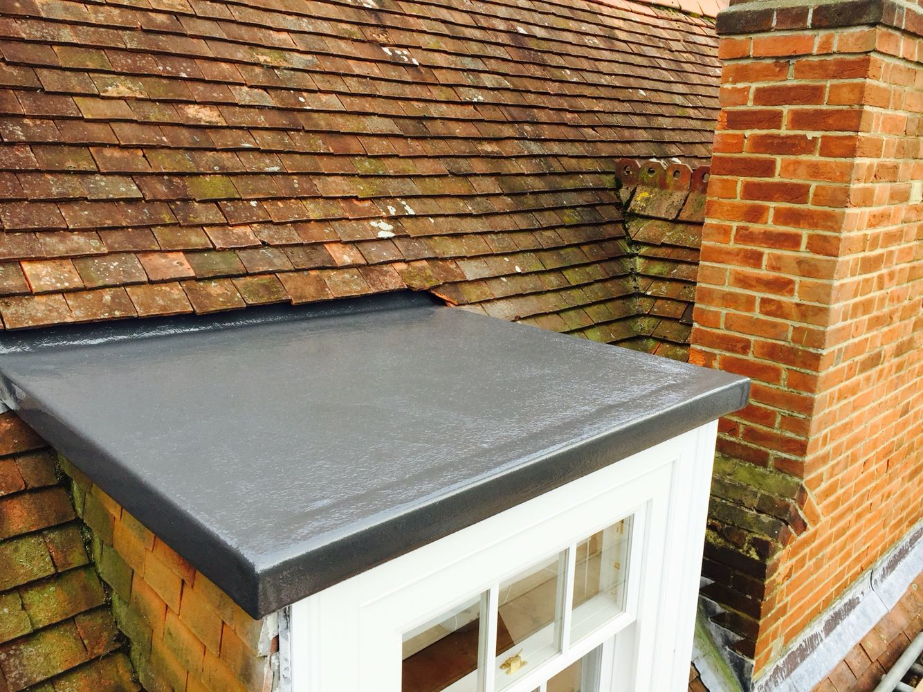 Best Old Lead Bay Roof Replaced For Grp Fibreglass Flat Roof 400 x 300