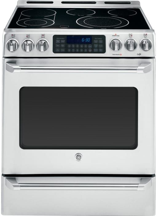 Ge Cs980stss 30 Inch Slide In Electric Range With 5 Smoothtop Elements 4 Cu Ft True European Precise Air Convection Oven Dual Element