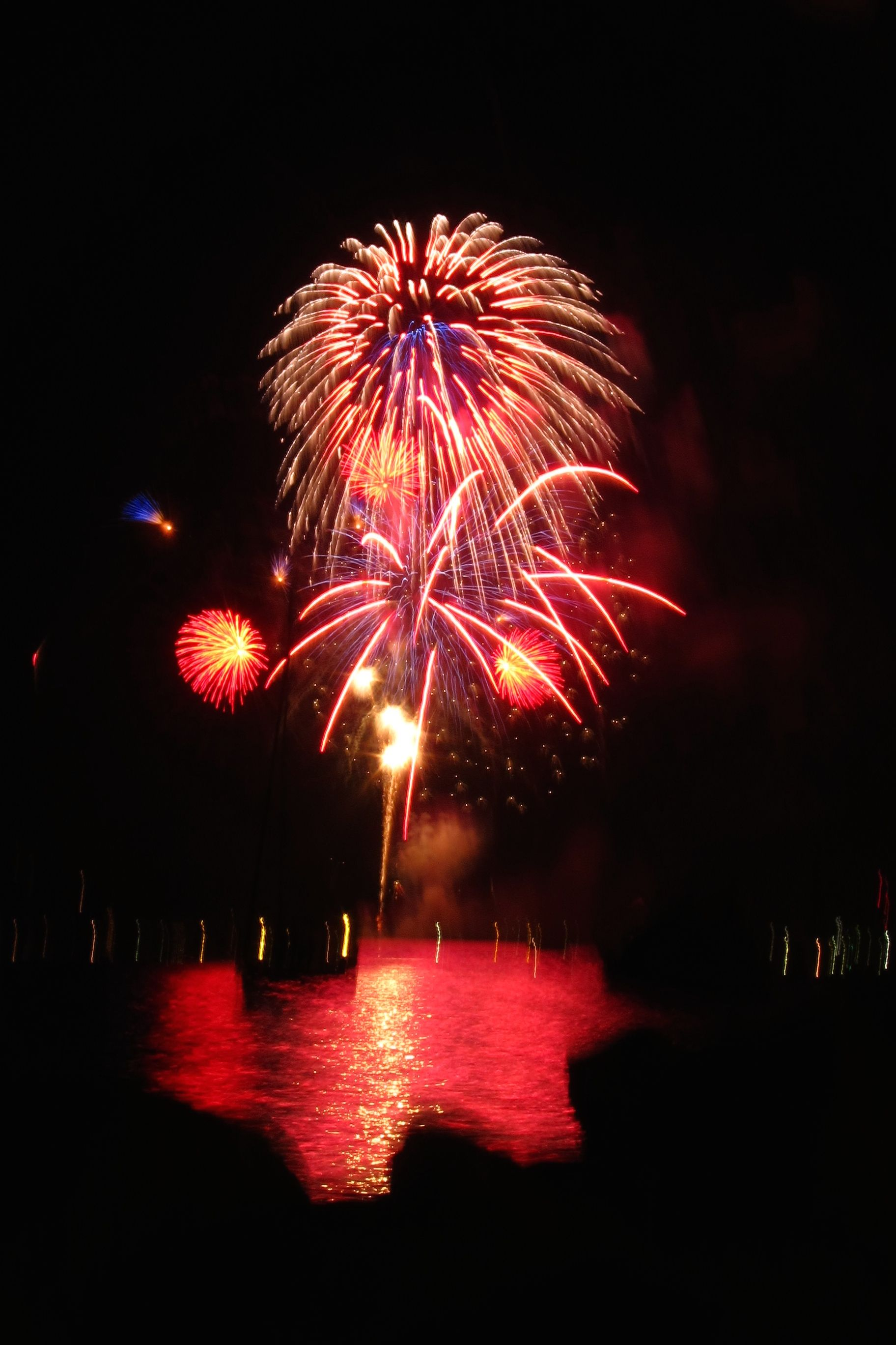 Fireworks over the puget sound ruston waterfront