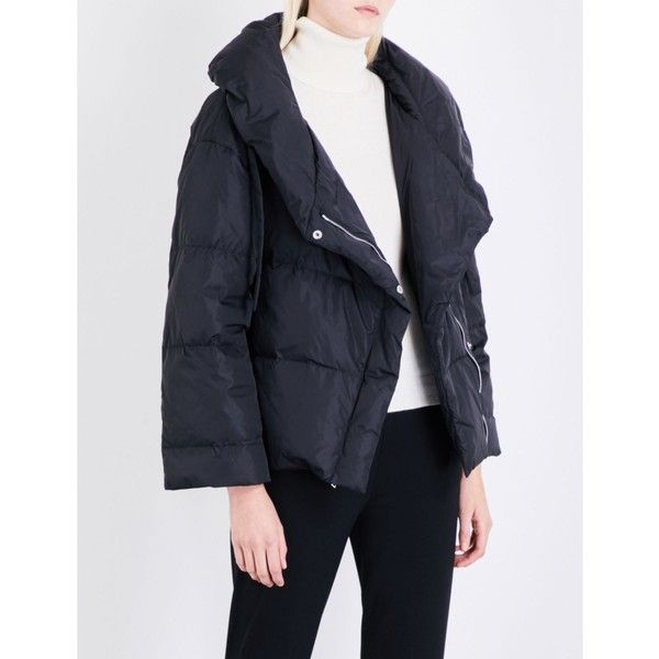 a99a7c318 Theory Quilted shell down puffer jacket ($555) ❤ liked on Polyvore ...