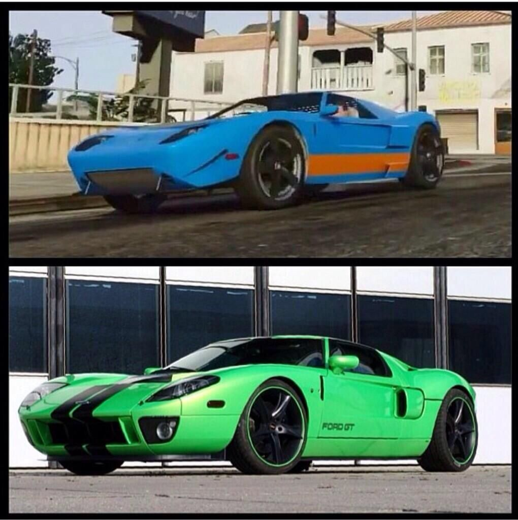 Ford Gt And Its Equivalent In Gta V