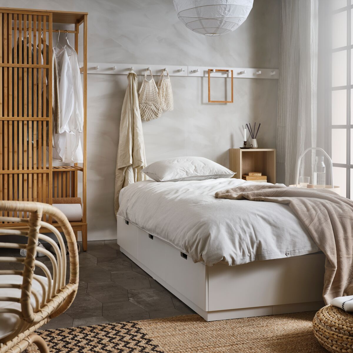 Nordli Bed Frame With Storage White Ikea Switzerland In 2020 Bed Frame With Storage Bed Frame Bed Decor