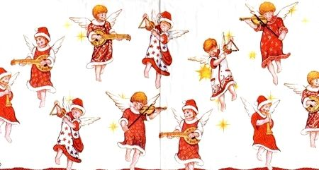 2087 Servilleta decorada Navidad