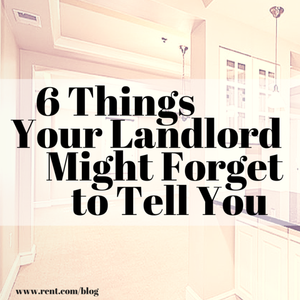 Apartment Hunting: 6 Things Your Landlord Might Forget To Tell You