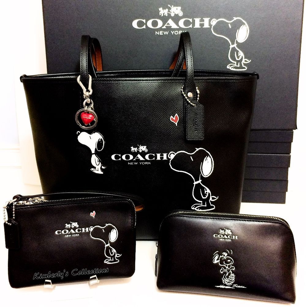 COACH X Peanuts SNOOPY Tote Bag, Cosmetic Case, Wristlet