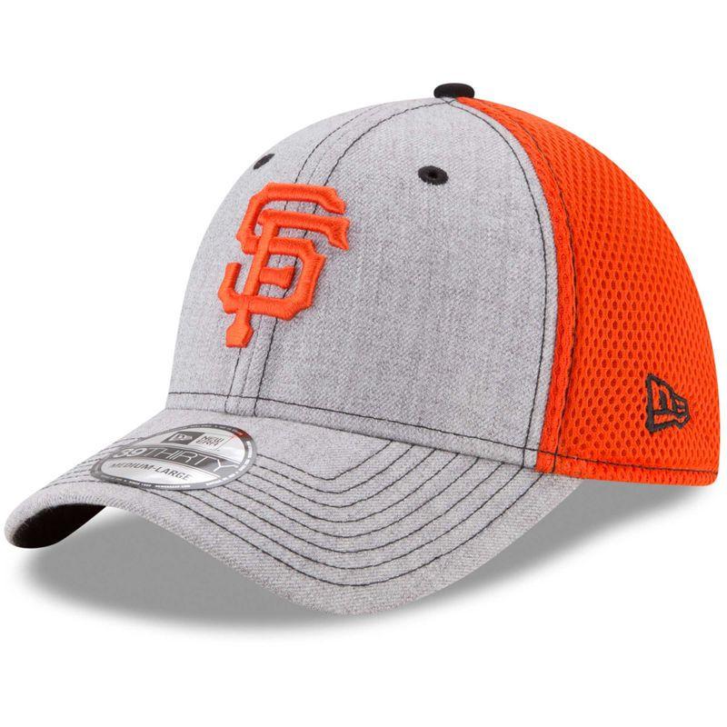 hot sale online ee507 30504 San Francisco Giants New Era Neo 2 39THIRTY Flex Hat - Heathered Gray Orange