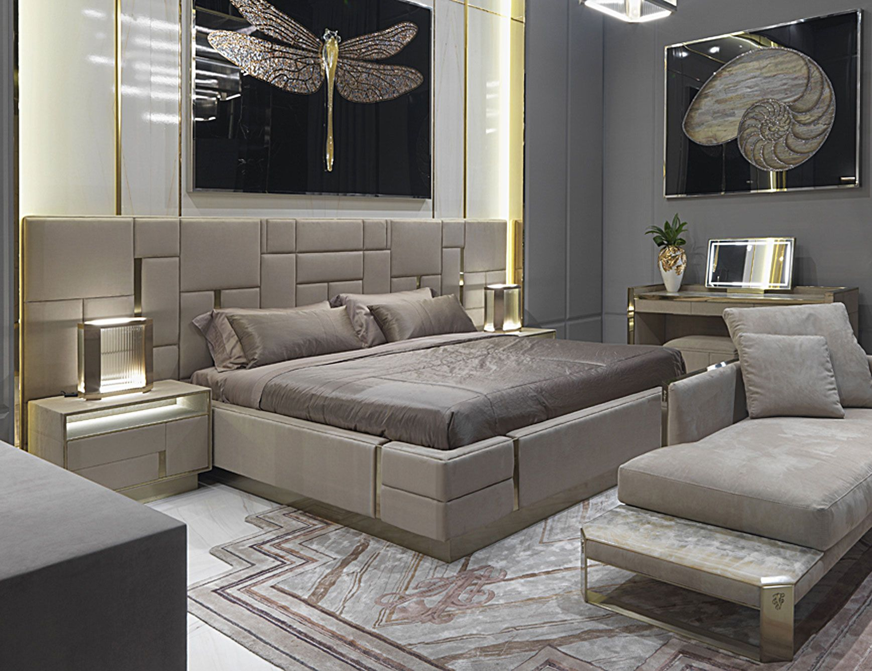 Beloved Large Luxury Italian Bed Shown In Upholstered Leather With Golden Lacquered Finish Finishe Bedroom Furniture Design Bed Design Modern Bedroom Interior
