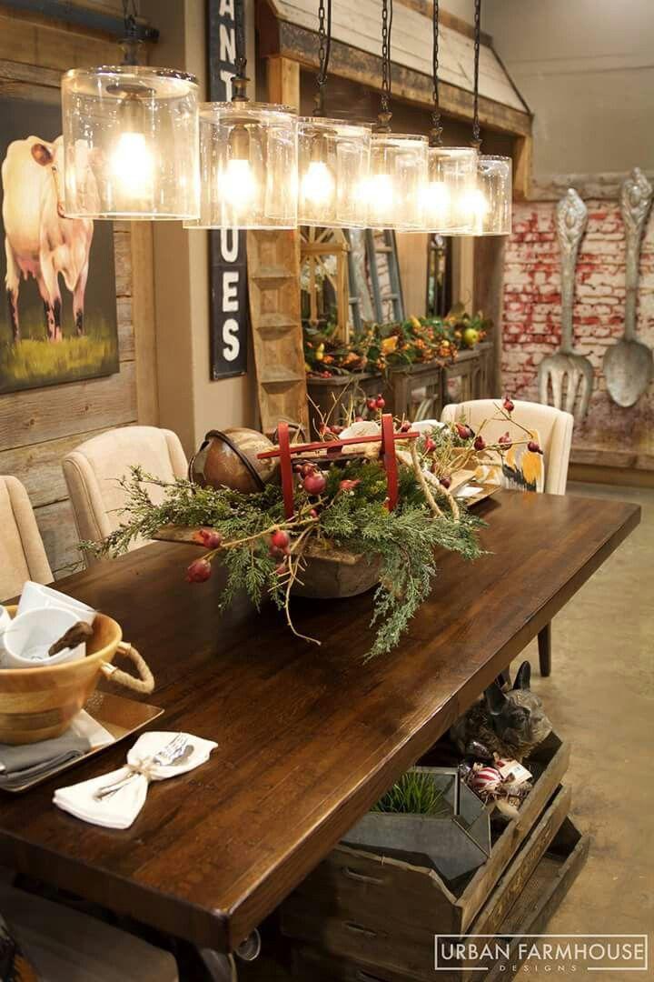 Reclaimed boxcar wood table by Urban Farmhouse Designs. | Farm ...