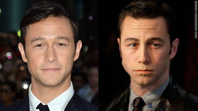 Joseph Gordon-Levitt   Before and After Makeup   Folks, look at what makeup can do