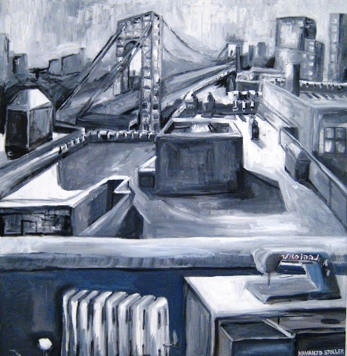Price 7 500 Gwb Black White Large Approx 60 X 60 Navahjo Stoller Oil Paintings Hudson Heights Geor