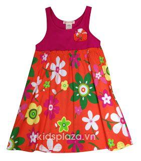Váy hoa cho bé gái kiểu dáng xinh, mặc mát mùa hè