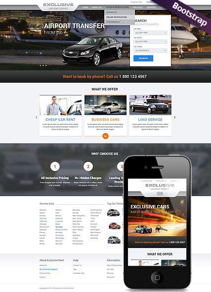 Rent A Car Html Website Template Best Website Templates Best Website Templates Website Template Top Web Designs