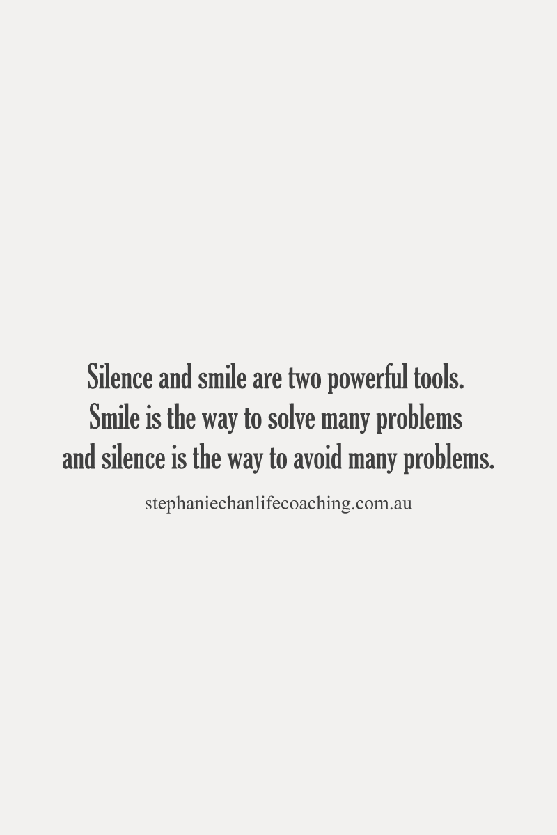 Silence And Smile Are Two Powerful Tools Quote Life Smile