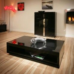 Outstanding Large Modern Designer Rectangular Black Gloss Glossy Coffee Gmtry Best Dining Table And Chair Ideas Images Gmtryco