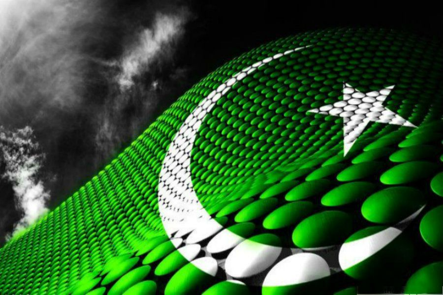 pakistan flag 3d abstract
