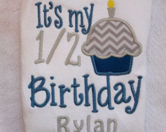 Personalized Half Birthday Shirt