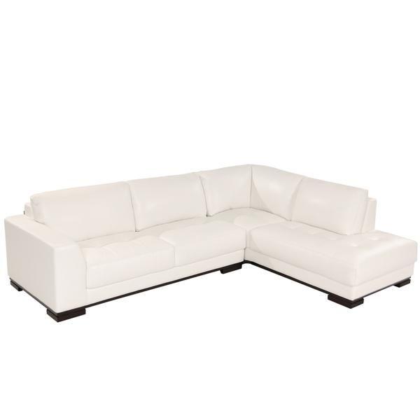 Wondrous El Dorado Furniture Leroy Ii White Corner Sofa W Right Cjindustries Chair Design For Home Cjindustriesco