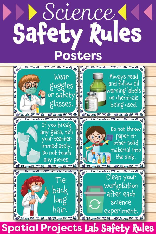 2nd grade science lab safety poster for students to refer