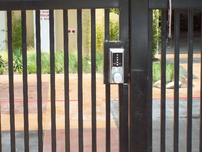 Installing A Security Fence And Gate With A Key Code Entry