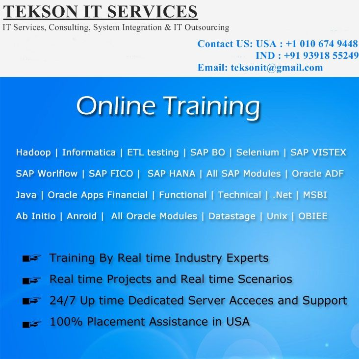 Teksonit It Services Provides The Best It Courses In World Wide We