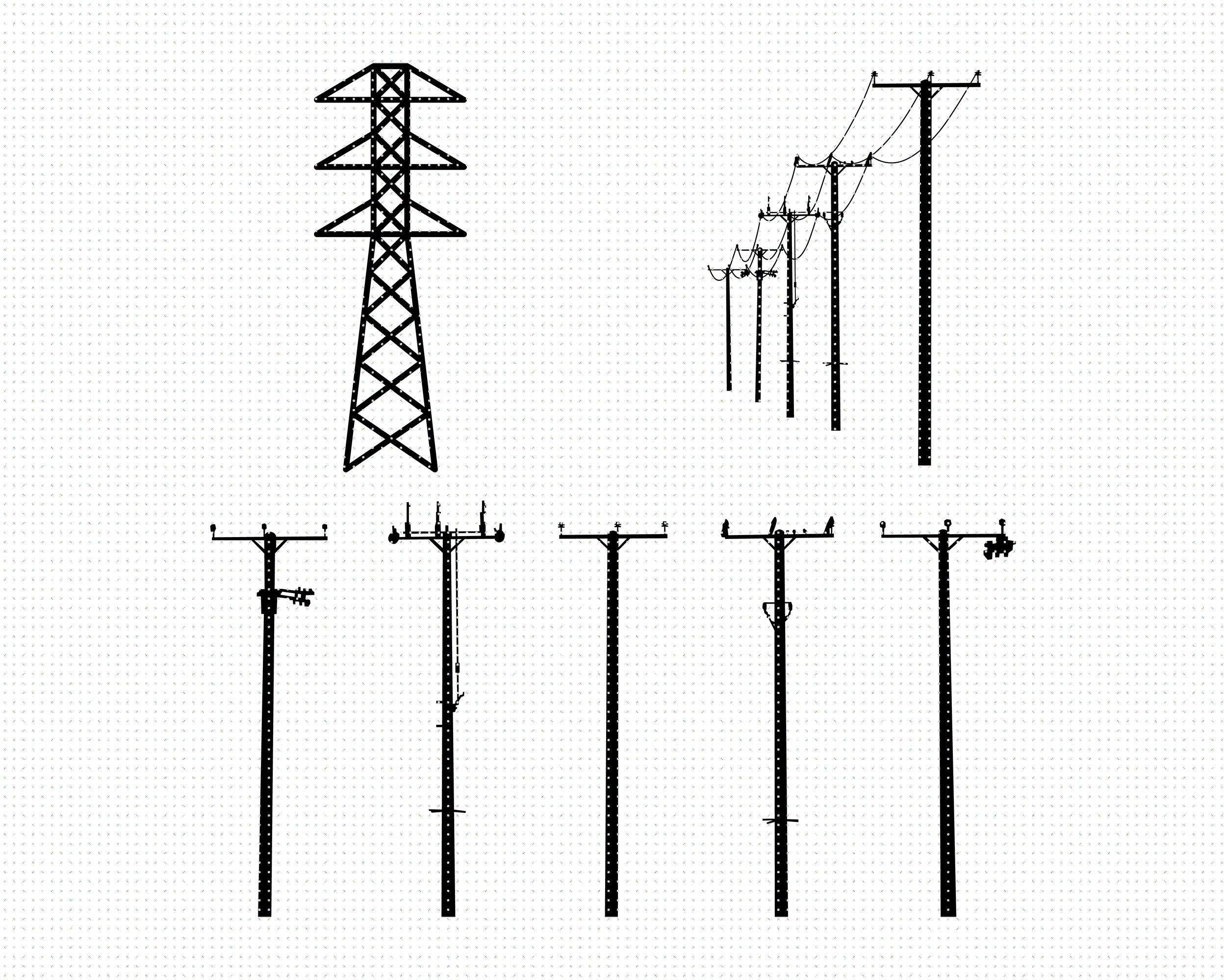 Power Lines Svg Electrical Lines Svg Transmission Tower Svg Etsy In 2021 Transmission Tower Electricity Art Svg