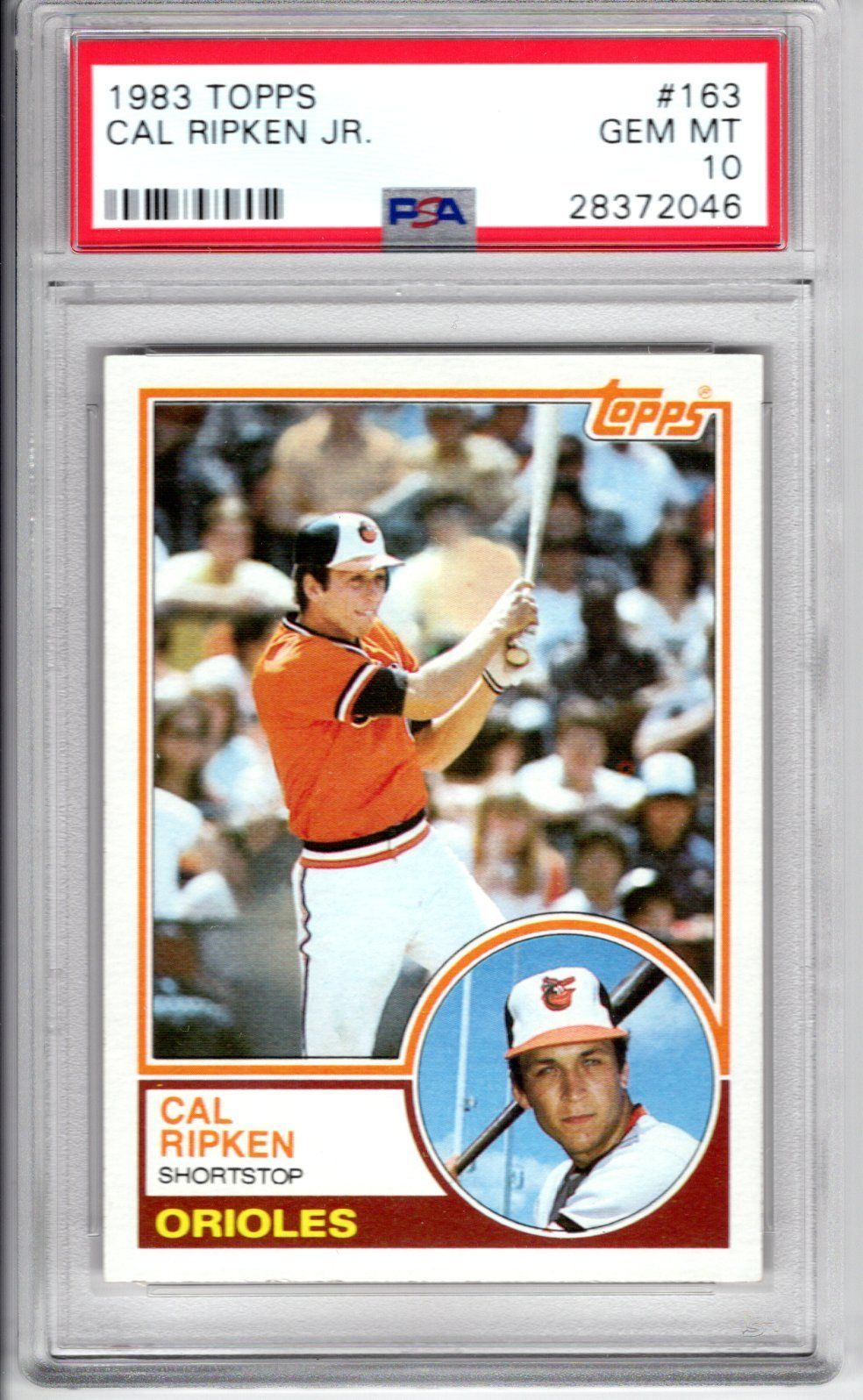 1983 Topps Baseball Cal Ripken Jr Card 163 Psa 10 Gem Mint Just