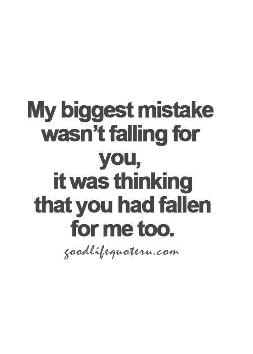 Biggest mistake.