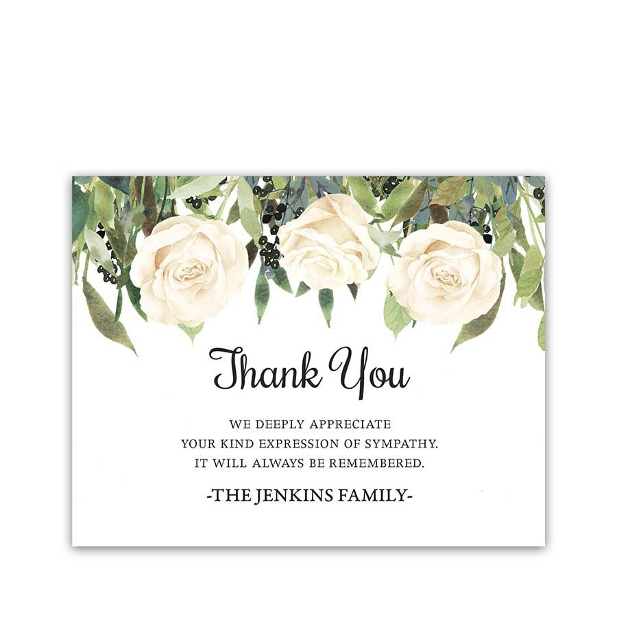 Custom Thank You Cards Celebration Of Life Funeral Thank You Cards Sympathy Thank You Cards Thank You Card Template