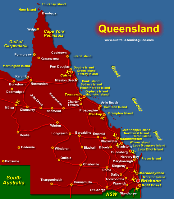 Queensland Map We sailed from Brisbane Mackay outside of the