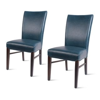 Milton Bonded Leather Dining Chair Set Of 2 Na Black Parson